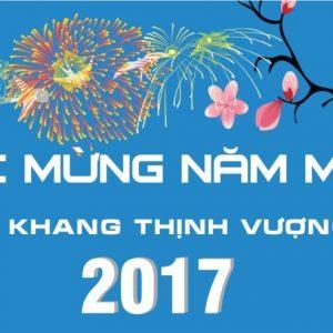 VATC thông báo nghỉ tết dương lịch 01/01/2017